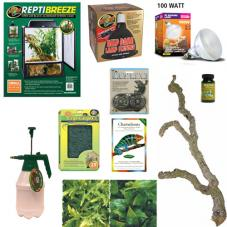 Exotic Pets Chameleon Kit (Full set up for medium sized chameleons)