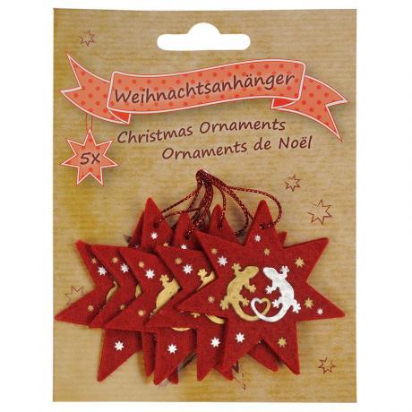 Blue Bug Felt Christmas Ornaments