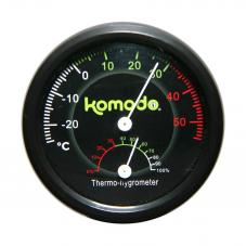 Komodo Combined Thermometer and Hygrometer Analog (For measuring temperature and humidity)