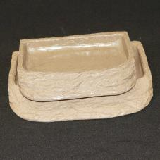 Exotic Pets Tortoise Feed Dish Stone Effect